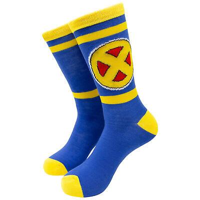 X Men Symbol (X-Men Yellow and Blue Symbol Crew Socks)