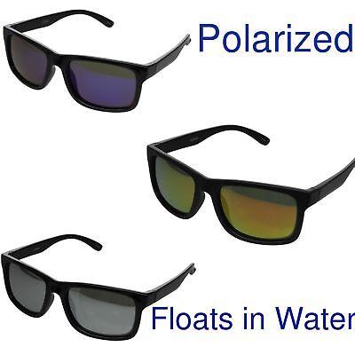 Floating Frame Polarized Sunglasses Fishing Water Sport Boating Black (Boating Sunglasses)