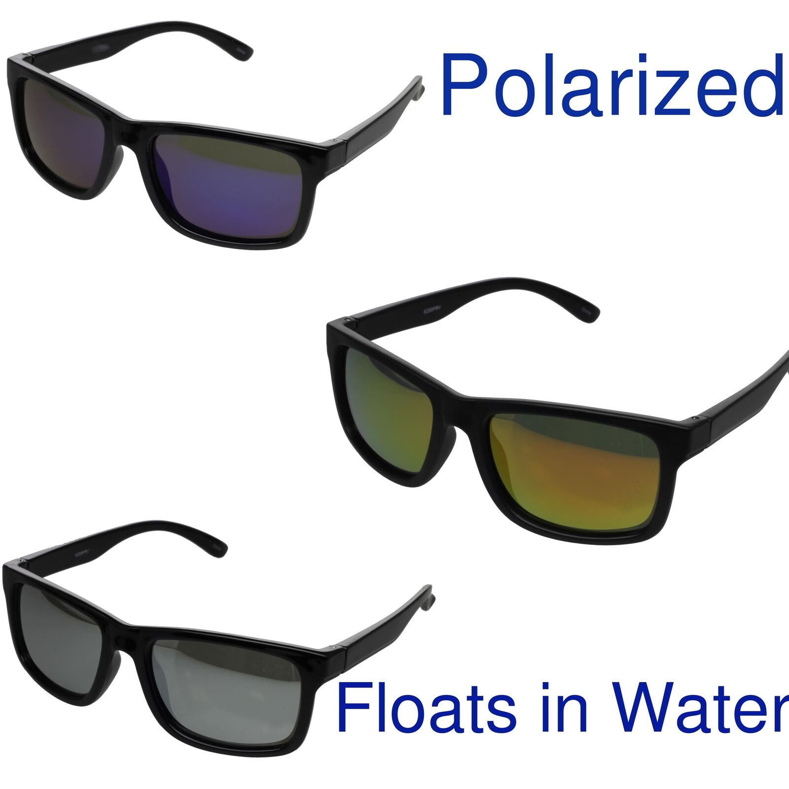 13cf0b5a8c Details about Floating Frame Polarized Sunglasses Fishing Water Sport  Boating Black Unisex