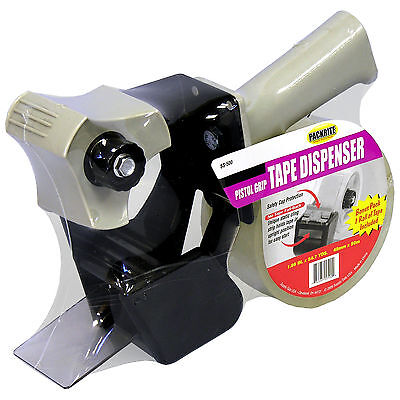 2 Pistol Grip Tape Gun With Bonus Roll - Each