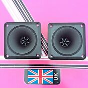 (Pair) Square Horn Piezo Tweeters 90mm x 90mm disco speaker replacemen