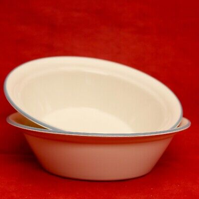 Corelle Symphony Coupe Rimmed Soup Cereal Bowls Set of 2 ~ 6 3/4 in. 2 Rimmed Cereal Bowls