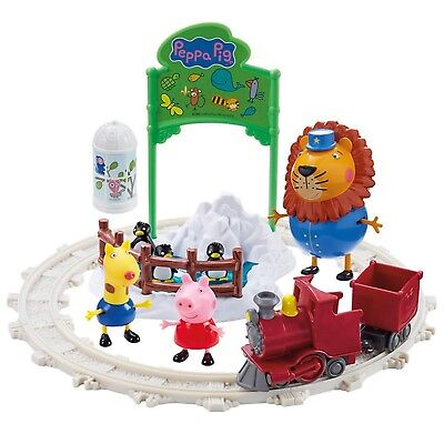 Zoo Pig - Peppa Pig Toy Day Out At The Zoo Playset Inc Mr Lion Figure & Train NEW