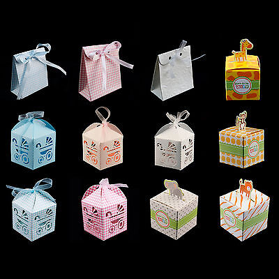 Baby Shower Pattern Gift Candy Treat Boxes Wedding Party Favor Boy Girl - Baby Candy
