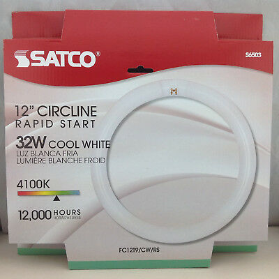 Satco S6503 32W Cool White 12in Circline Rapid Start Flourescent Bulb