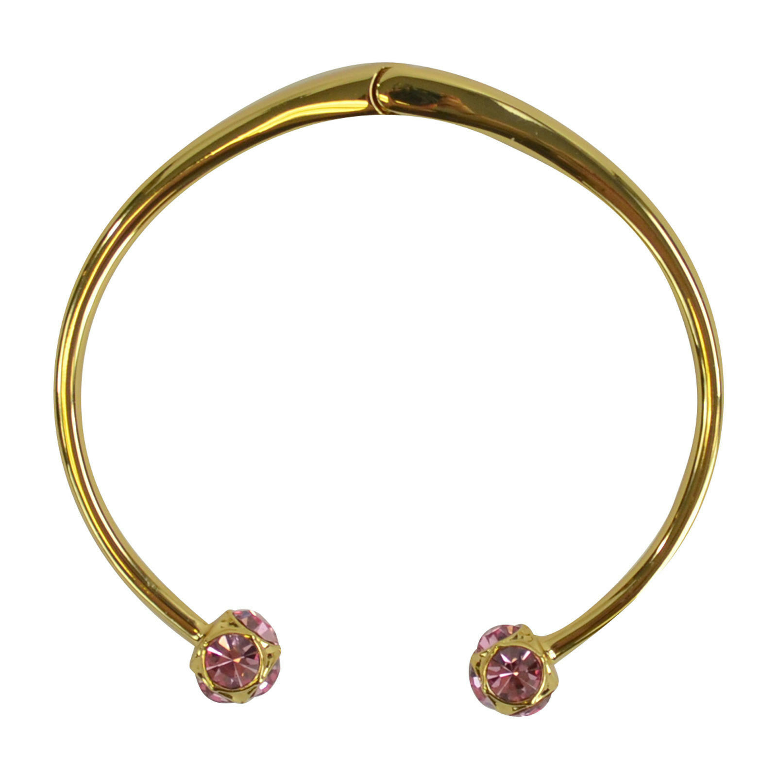 c05848c19cc78 Details about NEW Kate Spade Lady Marmalade Jeweled Stud Cuff Gold Bracelet  Light Pink $78+