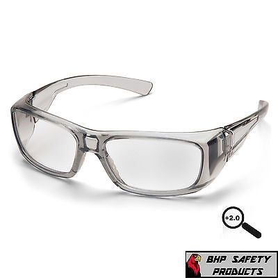 PYRAMEX EMERGE 2.0 CLEAR FULL READER LENS READING SAFETY GLASSES SG7910D20 1 PR