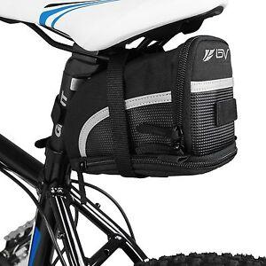 BV-Bicycle-Seat-Strap-On-Bike-Bag-Expandable-Black-Large-Saddle-Bag-NEW-SB1-L