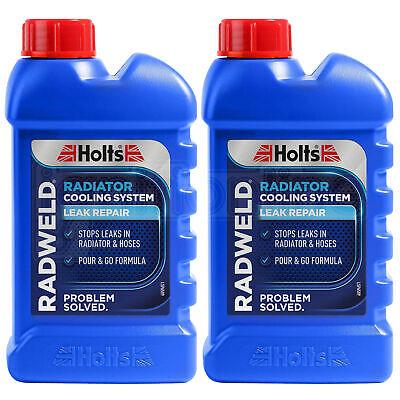 2 x Holts Radweld Repairs Radiator Weld Stop Leaking Radiators Rads 250ml