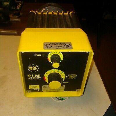 Lmi Milton Roy C131 Metering Pump 120 Vac
