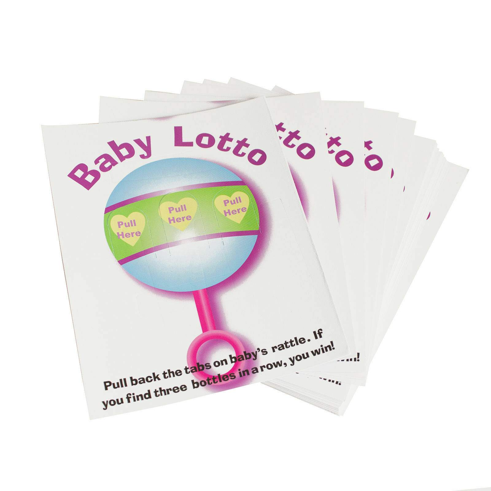48pk Baby Shower Fun Party Lottery Games Raffle BABY LOTTO P