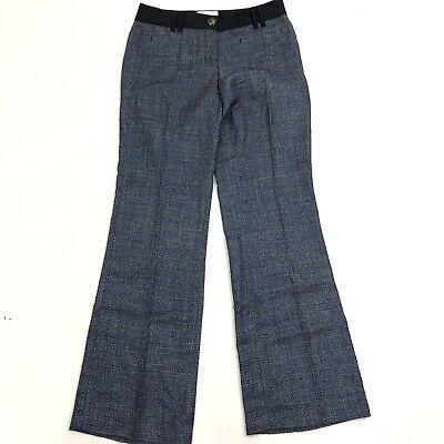 Anthropologie Elevenses The Brighton 4 x 32 Blue Tweed Dress Pants Trouser