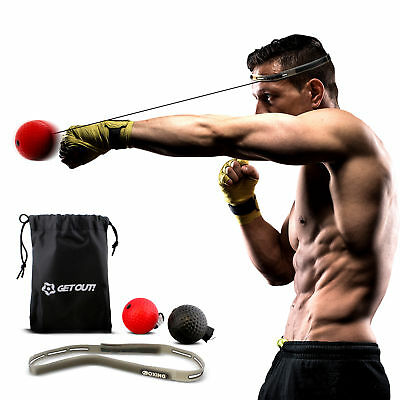 Boxing Reflex Ball Set – Reaction Ball – Agility Training Boxing Ball for sale  Shipping to India