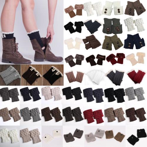 Damen Knöchel Strümpfe Trachtensocke StiefelsockenKalb Stulpen Socken Beinwärmer