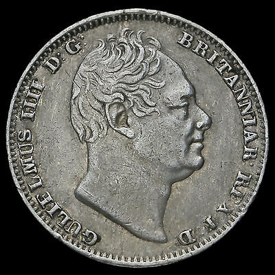 1837 William IV Milled Silver Maundy Fourpence