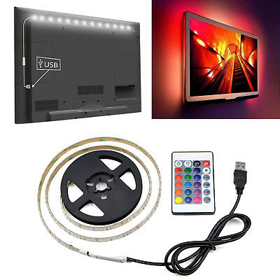 5V 2835 USB Power RGB LED Strip lamp Waterproof Decor String light TV Background
