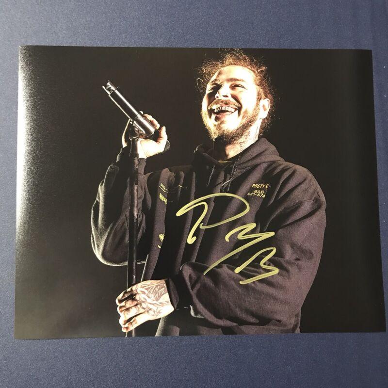 Music Singer Post Malone Signed Authentic 8x10 Photo C Stoney White Iverson Coa Proof Rock & Pop