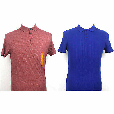 Zara Muscle fit Polo Shirt short Sleeve Red and Blue L, M