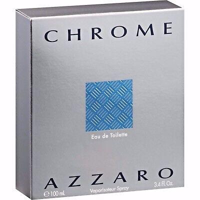 New  Chrome By Azzaro Perfume For Men 3 3 Oz   3 4 Oz 100 Ml In Sealed Box