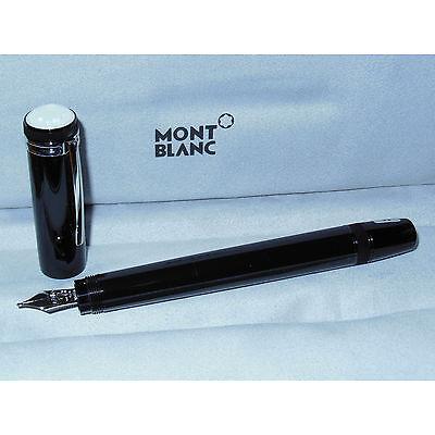 New Montblanc Heritage 1912 Fountain Pen Black/Platinum M25719 Retracting M Nib