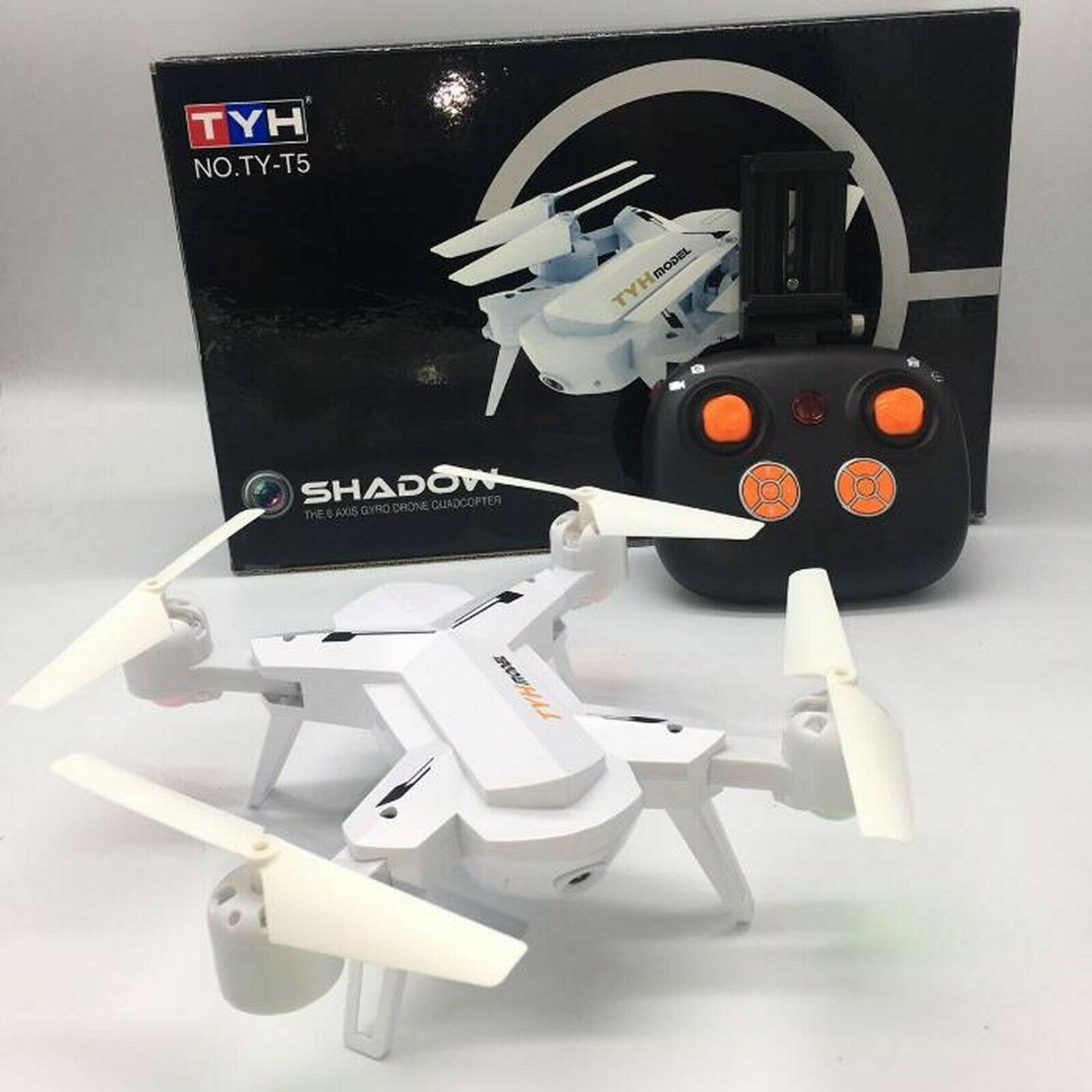 RC Folding Drone T5 Quadcopter WIFI FPV Camera 2.4G 4CH White, UK