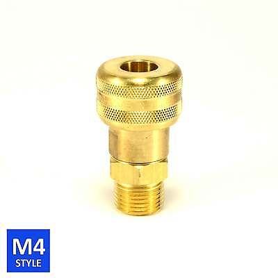 Foster 4 Series Brass Quick Coupler 3/8 Body 1/2 NPT Air Hose and Water Fittings
