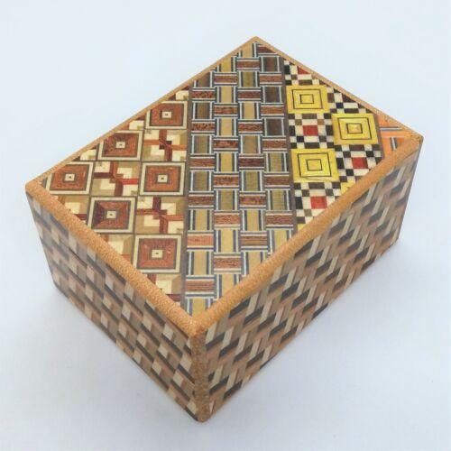 12 steps Yosegi/Kuzushi wood 3 sun Japanese Puzzle Box Himitsu-bako OKA NEW