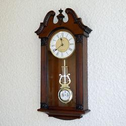 BULOVA VIENNA REGULATOR STYLE WALL CLOCK DUAL CHIME