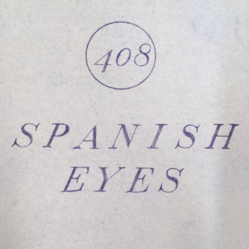 Williams Spanish Eyes Pinball Machine ORIGINAL Manual Schematics Cards Packet