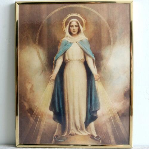 Miraculous Mary Plaque Catholic Church Virgin Mary Art Wall Charles Chambers