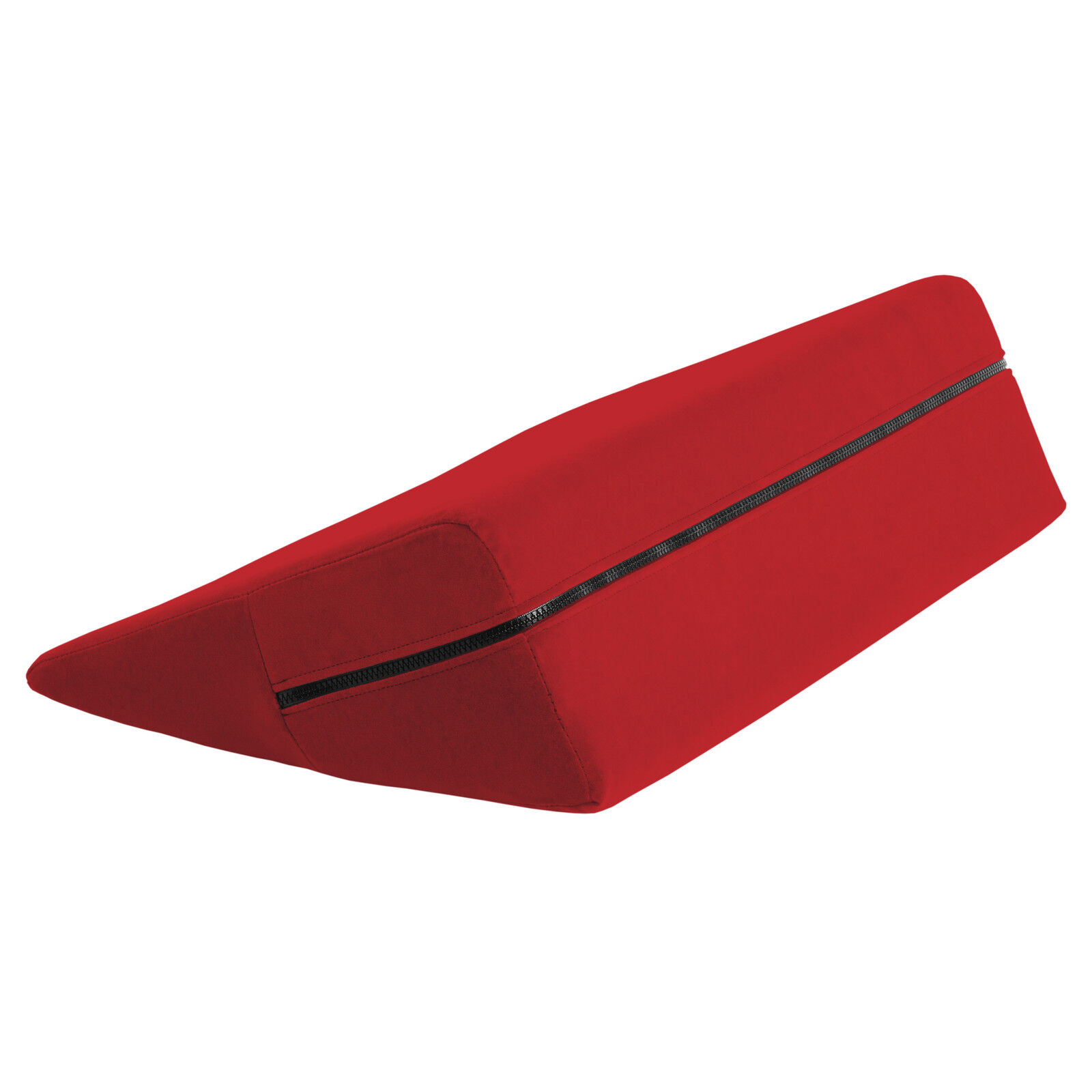 Wedge Intimate Positioning & Massage Pillow Red Microfiber