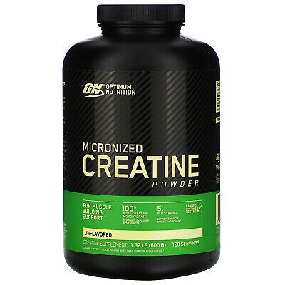 Optimum Nutrition Creatine Powder, Unflavored, 600 Gram