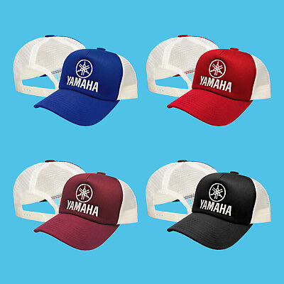 Yamaha Logo Baseball Cap - Yamaha Trucker Mesh Baseball Cap Embroidered Logo Motorcycle Hat Mens Womens
