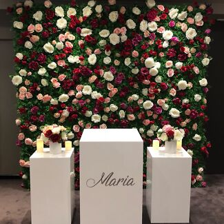FLOWER WALL AND PLIMPHS FOR HIRE