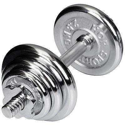 10 kg (1x10) Chrom Kurzhantel Hanteln Set Hantelset Gewichte Hantelscheiben