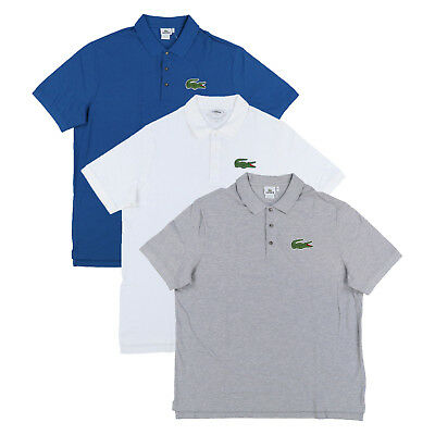 Big And Tall Mesh Polo Shirt (Lacoste Men Big and Tall Mesh Knit Three Button Polo Shirt Big Logo New Nwt )