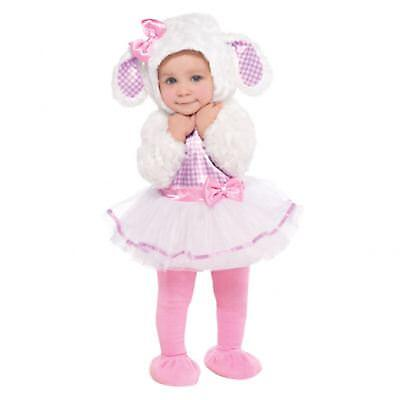 hen Deluxe Schaf Little Lamm Ostern Overall Maskenkostüm (Mädchen Kleinkind Kostüm)
