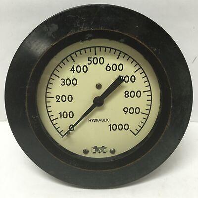 Marshalltown Vintage Hydraulic Pressure 4-12 Gauge 0-1000psi Range 12 Npt