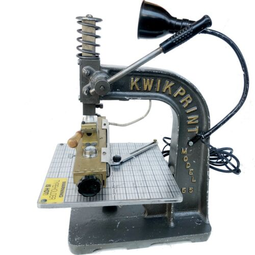 KWIKPRINT MACHINE  HOT FOIL GOLD STAMPING MACHINE Leather Embossing MODEL 55