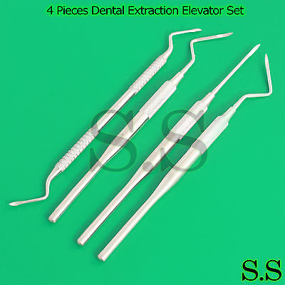 4 Pieces Dental Straight Surgery Extraction Root Tip Apical Elevator Dn 2074