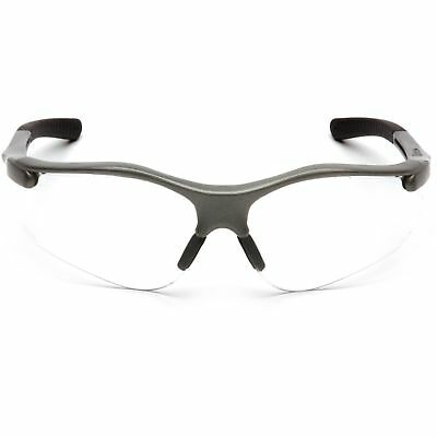 Pyramex SG3710D Fortress Safety Glasses Gray Frame w/ Clear