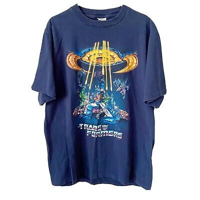 Vintage 1999 The Transformers Shirt Adult XL Optimus Prime Mens 90s USA Rare