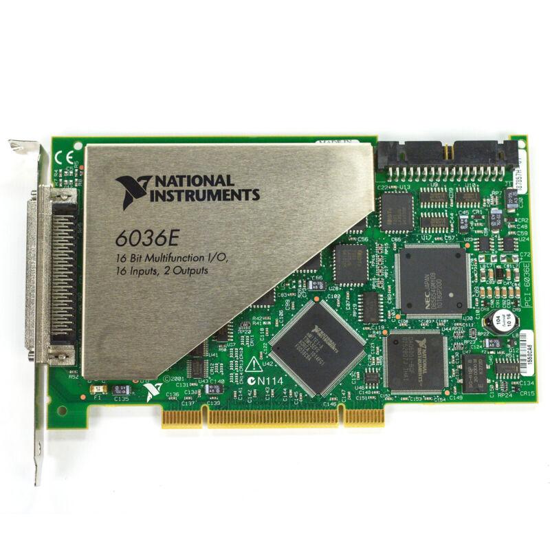 National Instruments PCI-6036E 6036E 16-Bit 16 inputs Multifunction I/O DAQ Card