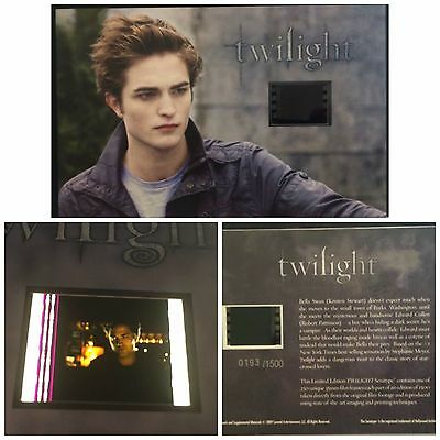 Twilight Robert Pattinson Limited Edition #11 Film Cell Numbered