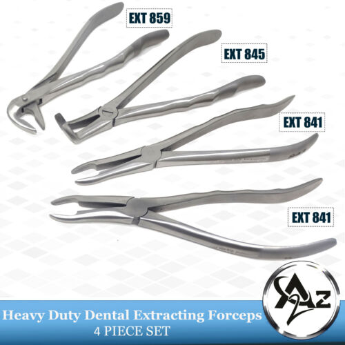 4pc Orthodontic GERMAN STAINLESS Root Tip Extracting Forceps Dental Instruments