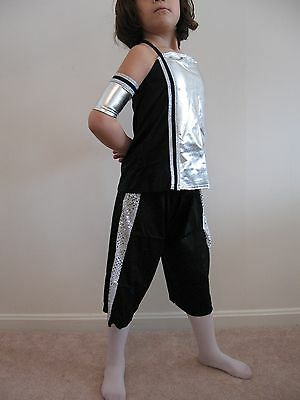 SPACE ALIEN, HIP HOP OUTFIT, ROBOT, BLACK AND SILVER COSTUME - NEW - Hip Hop Roboter Kostüm