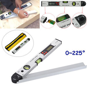 0~225° LCD Digital Angle Finder Protractor Inclinometer Meter Spirit Level Gauge