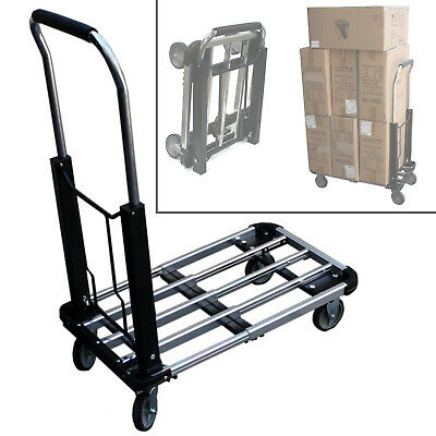 220 Lbs Aluminum Platform Moving Sturdy Extendable Compact Hand Cart Truck Dolly