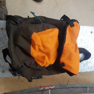 Wool and fleece covered hunting back packs