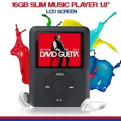 NEW 2018 Slim 1.8in LCD Music Media Video Player 16GB MP4 MP3 Radio Recorder UK